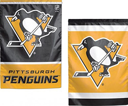 (WinCraft NHL Pittsburgh Penguins Garden Flag, 12.5 x 18 inches, 2 sided print circle logo )