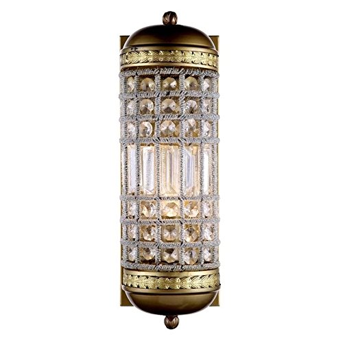 Elegant Lighting 1205W5FG/RC Olivia Collection 1-Light Wall Sconce with Royal Cut, 5