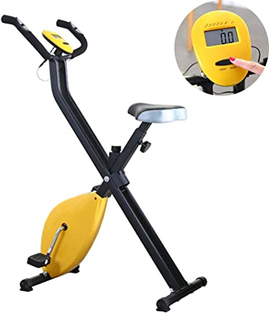 Bicicleta Estática Plegable Profesional Entrenamiento Fitness Quema De Grasa, 8 Niveles De Resistencia Magnetica, Monitor De Entrenamiento, MAX 120 Kg: Amazon.es: Hogar
