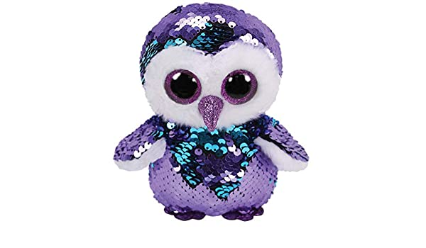 413456cc3ce Ty Beanie Babies 36269 Flippables Regular Moonlight The Purple Owl Sequin   Amazon.com.au  Toys   Games