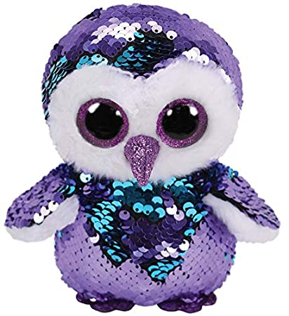 5cb610f332a Ty Flippables Moonlight the Owl Sequin Soft Toy  Amazon.co.uk  Toys   Games