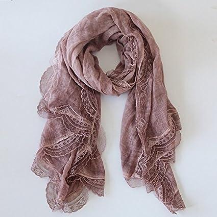 Shop 6 Écharpe Châle, écharpe Silknew Mode Femme Couleur Unie en Coton et  Lin écharpes 84c302b4f6c