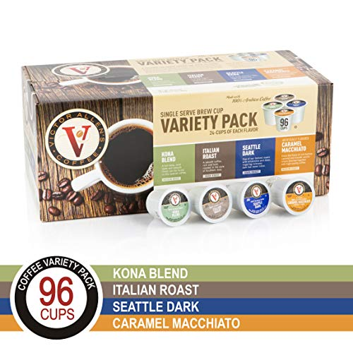 Hawaii Roasters - Flavored & Unflavored Coffee Variety Pack for K-Cup Keurig 2.0 Brewers, 96 Count Victor Allen's Coffee Single Serve Coffee Pods