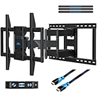 Mounting Dream MD2298 Premium TV Wall Mount Bracket Fits 16, 18, 24 inch Wood Stud Spacing with Full Motion Articulating Arm for most 42-70 Inch LED, LCD and Plasma TV up to VESA 600x400mm and 132 lbs