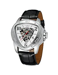 Forsining Men's Triangle Automatic Skeleton Dial Wristwatches WRG8108M3S2