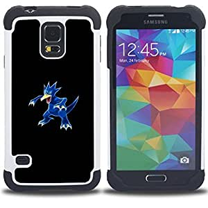 For Samsung Galaxy S5 I9600 G9009 G9008V - Golduck P0Kemon H???¡¯????brido Protecci???¡¯????n completa dual de alto impacto Capa Funda - Cash Case -