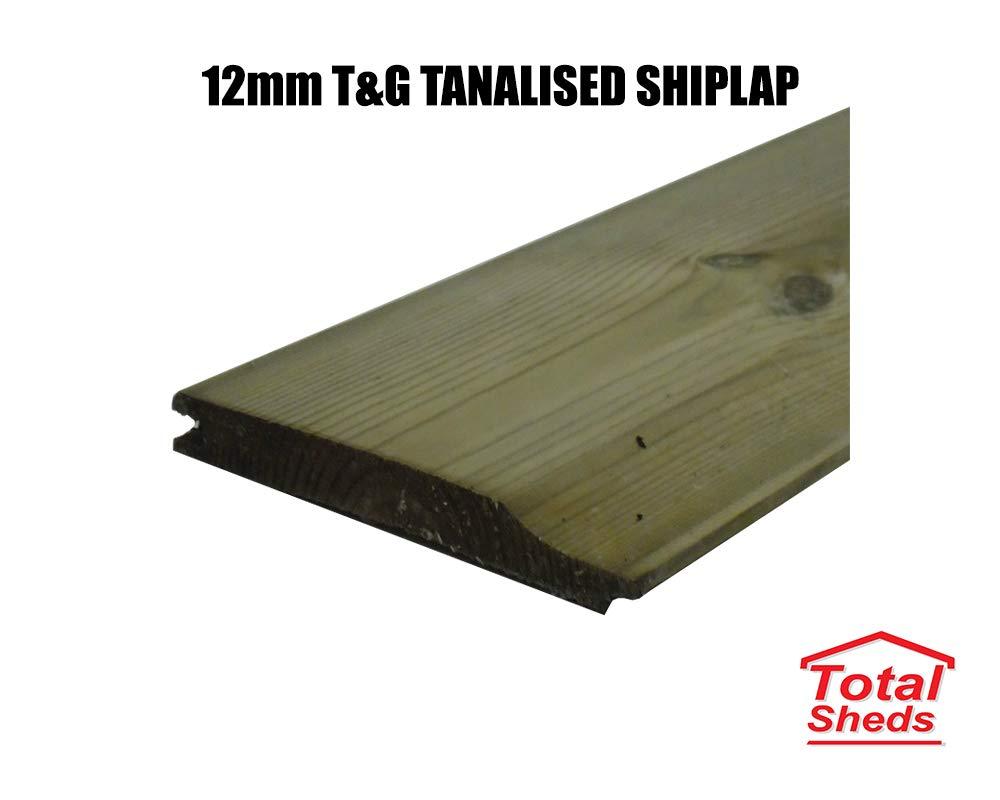 6ft x 3ft Waney Larch Overlap Fence Panels Total Sheds 6x3 1.83m x 0.91m