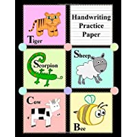 Handwriting Practice Paper: Blank Notebook with Dotted Mid-Lines for Grades K-3 (Cartoon Animal Blocks)