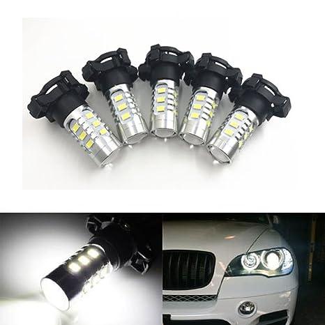 e7790d2e163b Amazon.com  GFJMC 2 PCS Xenon White Error Free 15-SMD PY24W 5200s LED Bulbs  For BMW E90 E92 3 F10 F07 5 Series E83 F25 X 3 E70 X 5 E71 X 6 Z4   Automotive