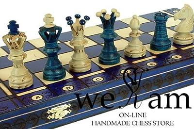 Blue Ambassador Chess Wooden - Board 21x21 by Wegiel