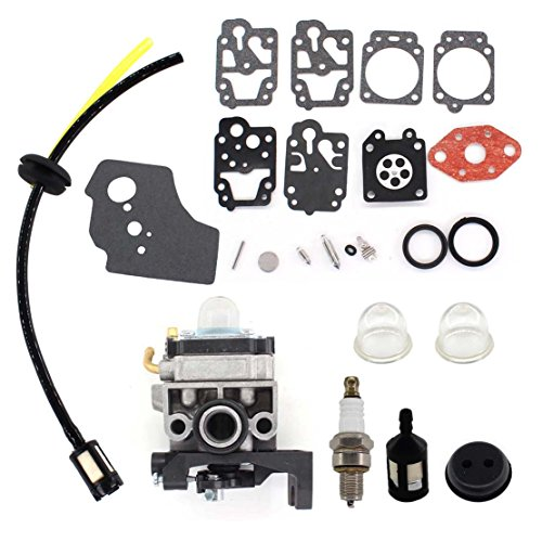 USPEEDA Carburetor for Honda GX25 GX25N GX25NT FG110 FG110K1 HHT25S GX35 GX35NT HHT35 HHT35S UMC435 4 Stroke Carb 16100-Z0H-825 16100-Z0Z-034 Carburetor Repair Rebuild Diaphragm Kit Gasket Spark Plug