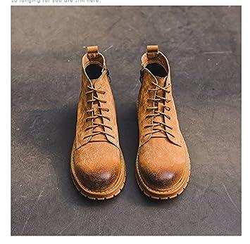HL-PYL-Les nouvelles bottes de tirette Fermeture éclair rétro haute chaussures bottes bottes bottes Martin Outillage,38,Camel