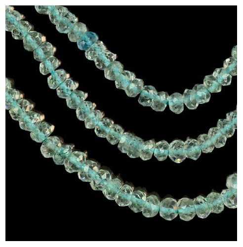Aquamarine ~3.5mm Micro Faceted Rondelle Beads Genuine Natural Strand (Aquamarine Faceted Rondelle Beads)