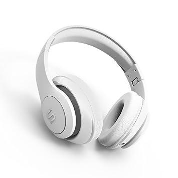 SoMi - Auriculares inalámbricos con cable Bluetooth con micrófono integrado, auriculares estéreo de alta fidelidad
