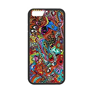 New Style Crazy Trippy Hardshell Cell Phone Cover Case for New iPhone 6