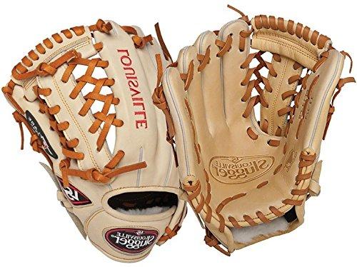 Louisville Slugger 11.75-Inch FG Pro Flare Baseball Infielders Gloves, Cream, Left Hand Throw