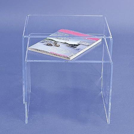 Acryltisch Acryl Tisch 2 Teilig Plexiglas Acrylglas Neu Amazon De