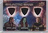 #3: Star-Lord; Gamora; Ego (Trading Card) 2017 Upper Deck Guardians of the Galaxy Volume 2 - Galactic Garb Triple #TM-12