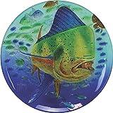 River's Edge Guy Harvey Dorado Glass Platter, 15''