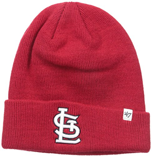 St Louis Hat (MLB St. Louis Cardinals '47 Raised Cuff Knit Hat, Red, One)
