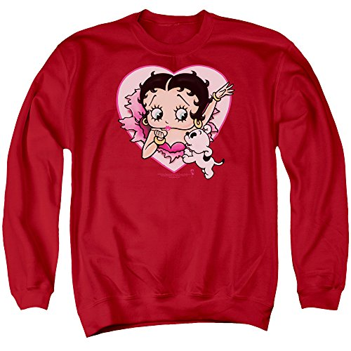 Betty Boop 30's Cartoon Betty And Pudgy Adult Crewneck ()