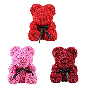 Rose Bear Toy Women Girls Flower Birthday Valentine Wedding Party Doll Gift 65