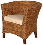 Jeffan International Abaca Astor U Chair, Small
