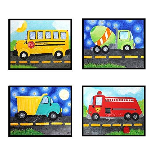4 Transportation Prints, 8