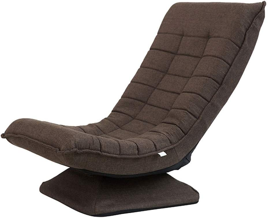 Floor Game Sofa 360 Degree Swivel Folding Floor Gaming Chair Adults, Comfortable Padded Backres, Great for Home, Office, Dark Brown 11.20
