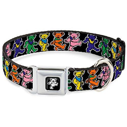 Buckle-Down Seatbelt Buckle Dog Collar - Dancing Bears Black/Multi Color - 1