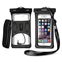 Vansky® Floatable Waterproof Case Dry Bag Cellphone Pouch With Armband and Audio Jack for iPhone 7 Plus, 7, 6, 6 Plus, 6s,5s,Andriod; Eco-Friendly TPU Construction and IPX8 Certified to 100 Feet