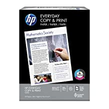 HP Paper, Copy and Print,20lb, 8.5 x 11, Letter,  92 Bright, 400 Sheets / 1 Ream (200010R)