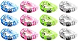 Cool Set of 12 Flashing Light Tambourine Children's Kid's Novelty Toy Noise Maker w/ 3 Light Patterns, Perfect for Party Favors, Goodie Bags (Colors May Vary) Fun with Lights