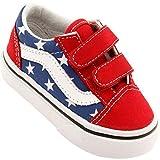 vans Infant/Toddlers Shoes Old Skool Velcro MLB Los Angles Dodgers Sneakers