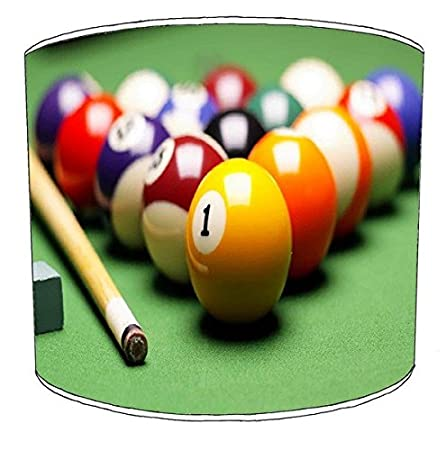 12 Inch Table Billiard, Pool, Snooker, 8 Ball Childrens Lampshade ...