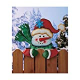 Snowman Holiday Fence Topper
