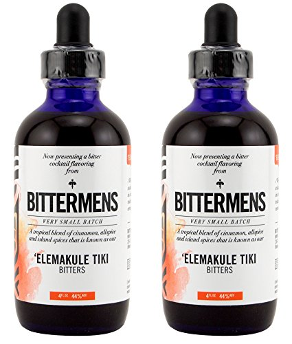Bittermens 'Elemakule Tiki Cocktail Bitters 2 - Glasses Offers Tesco