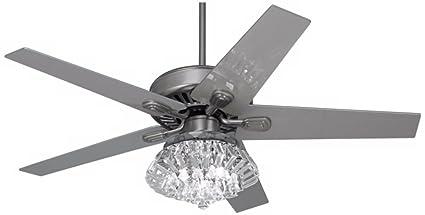 Awesome 52u0026quot; Windstar II Steel Crystal Light Kit Ceiling Fan