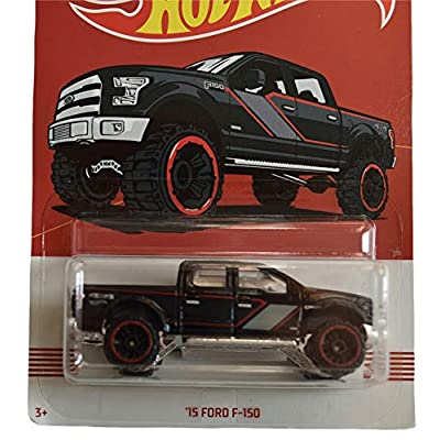 Hot Wheels 1:64 Scale Black '15 Ford F-150 4/10: Toys & Games