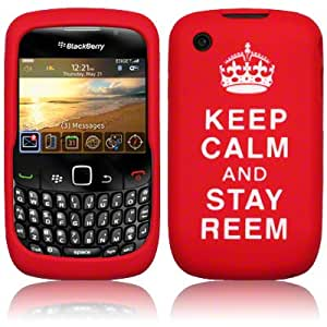 Keep Calm Silicone Skin By Terrapin - Red Stay Reem for Blackberry 8520 Curve