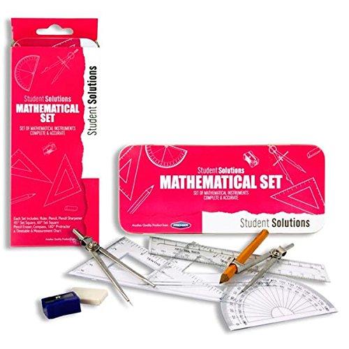 9-teilig Rosa Premier Stationery Student Solutions Mathematik-Set