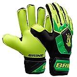 Varzist Goalkeeper Gloves Brine King Match 3X Soccer Goalie Glove Finger Save Protection Spines (Hi Lite/Vivid Cactus, 6)