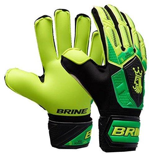 Varzist Goalkeeper Gloves Brine King Match 3X Soccer Goalie Glove Finger Save Protection Spines (Hi Lite/Vivid Cactus, 6) ()