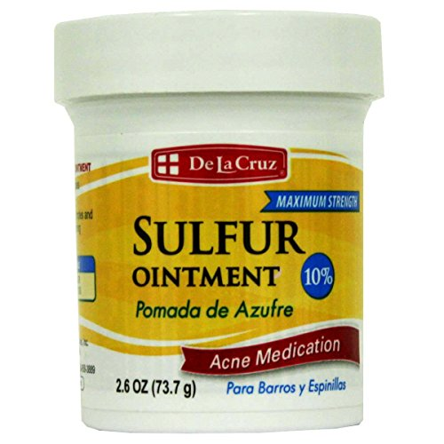 De La Cruz Sulfur Ointment Acne Medication 2.6oz (Strength First Formula Aid Ointment)