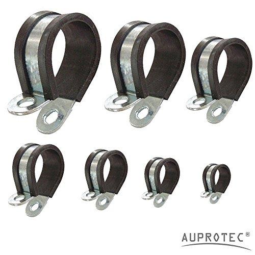 Rohrschellen mit Gummieinlage Auswahl: Ø 30mm / Band 20mm, 2 Stück