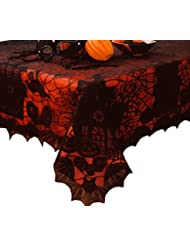 Halloween Table Cloth halloween tablecloth pbkids all hallows eve pinterest halloween tablecloth tablecloths and halloween Halloween Lace Tablecloth With Vinyl Liner 52 X 70 Oblong