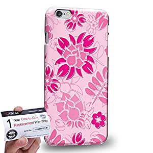 "Case88 [Apple iPhone 6 / 6s Plus (5.5"")] 3D impresa Carcasa/Funda dura para & Tarjeta de garantía - Art Fashion Ultra Pink Painted Fashionista Floral"