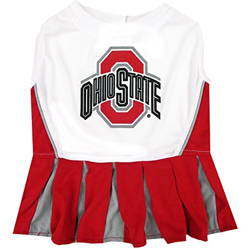 Ohio State Cheerleader Outfit - Pets First Collegiate Ohio State Buckeyes Dog Cheerleader Dress, Medium