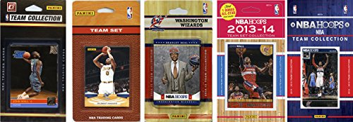 C&I Collectables NBA Washington Wizards 5 Different Licensed Trading Card Team Sets, Brown, One Size by C&I Collectables