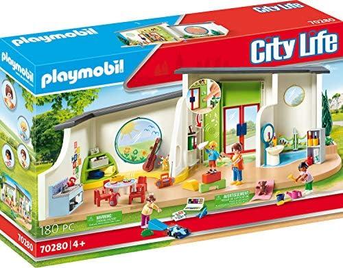 PLAYMOBIL City Life 70280 Guardería Arcoíris con efectos de luz y sonido, A partir de 4 años